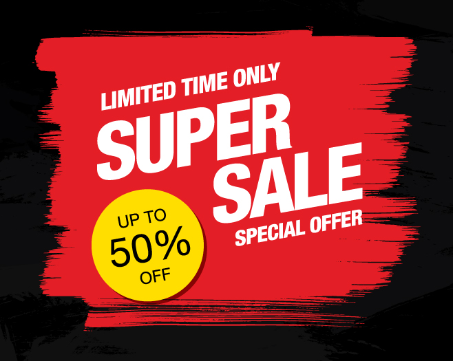 Limited Super Sale up to 50% off