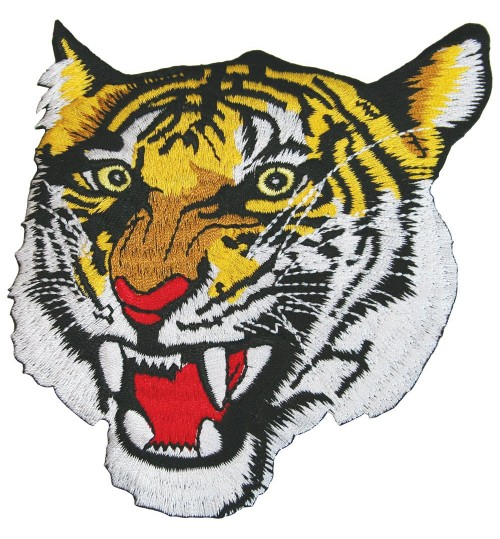 Embroidered Tiger Head Badge