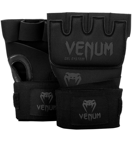 Venum Kontact Gel Glove Wraps - Black/Black