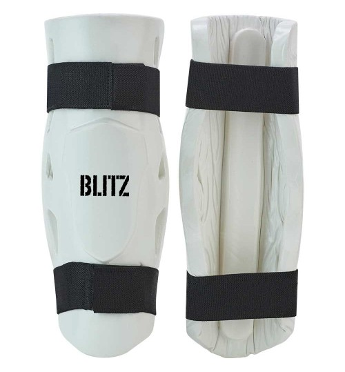 Blitz Double Padded Dipped Foam Shin Guards - White