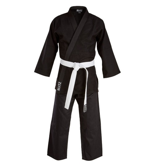 Blitz Kids Cotton Student Judo Suit - Black