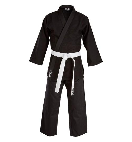 Blitz Kids Cotton Student Judo Suit - Black