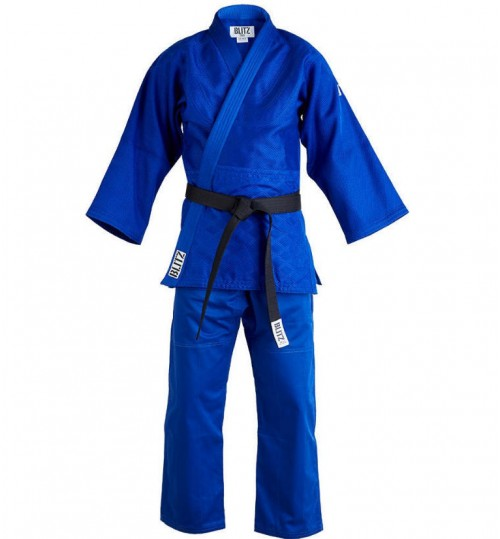 Blitz Adult Master Heavyweight Judo Suit - Blue - 750g