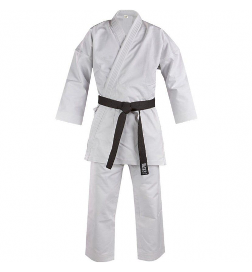 Blitz Kids White Diamond Karate Suit - 14oz - Plain