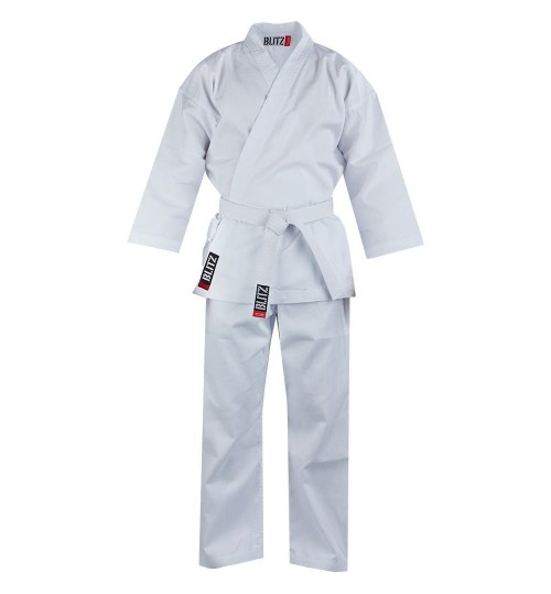 Blitz Adult White Student Karate Suit - 7oz