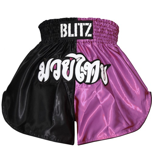 Blitz Adult Muay Thai Shorts - Pink/Black