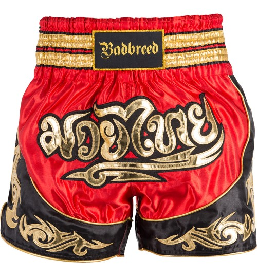 Badbreed Python Thai Shorts - Red