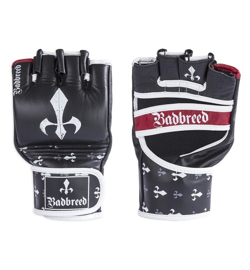 Badbreed Signature Edition Leather MMA Competition Gloves - Black