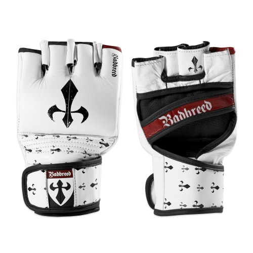 Badbreed Signature Edition Leather MMA Competition Gloves - White