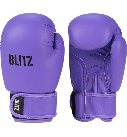 Blitz Kids Alpha Leather Boxing Gloves - Purple