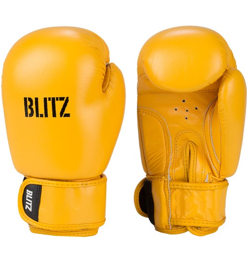 Blitz Kids Alpha Leather Boxing Gloves - Yellow