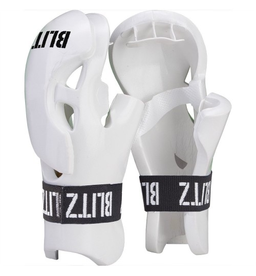 Blitz Double Padded Dipped Foam Tag Gloves - White