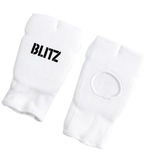 Blitz White Elastic Hand Pads - Adult