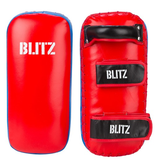 Blitz Firepower Thai Pads - Red/Blue
